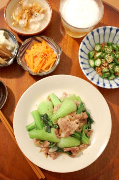 豚肉と青梗菜の炒めもの 献立