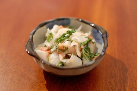 大根の梅紫蘇サラダ