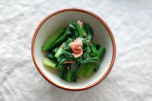 青梗菜の梅和え