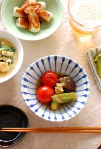 夏野菜の焼きびたし 献立
