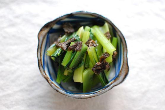 小松菜の梅海苔和え