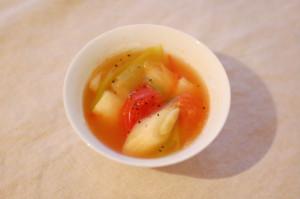 トマトと葱のスープ