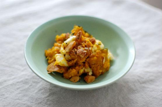 かぼちゃとチーズのサラダ
