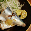 鯖と葱の酒蒸し