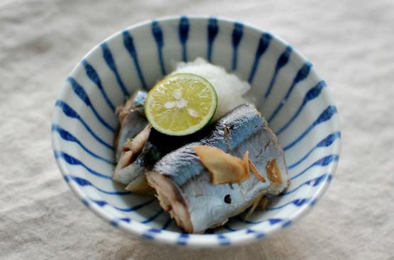 秋刀魚の生姜蒸し