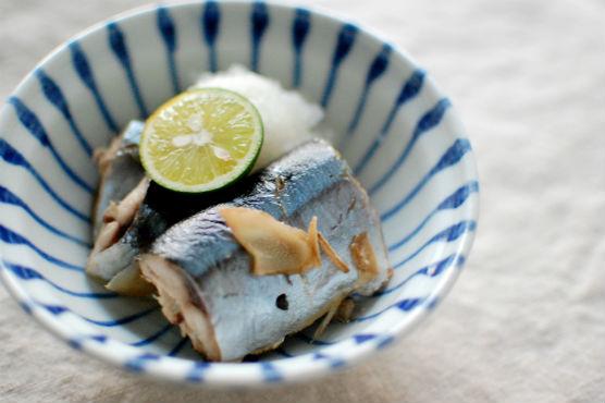 秋刀魚の酒蒸し