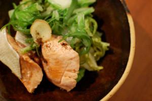 秋鮭と白菜のフライパン蒸し