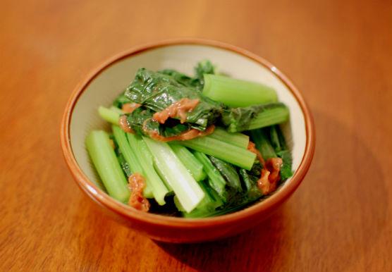小松菜の梅ポン酢和え