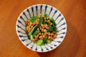 小松菜の納豆和え