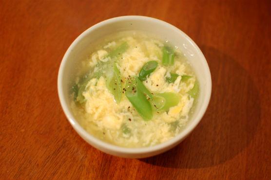 葱と卵のスープ