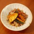 かぼちゃと豚肉のにんにく醤油炒め