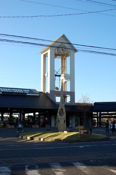 益子駅 時計塔
