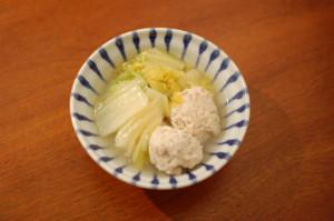 鶏団子と白菜の煮物