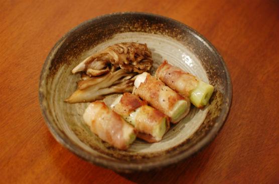 白葱の豚バラ肉巻き