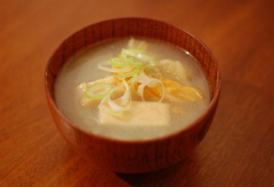 干し白菜の味噌汁