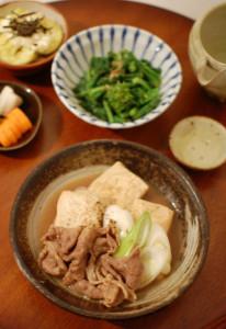 肉豆腐献立