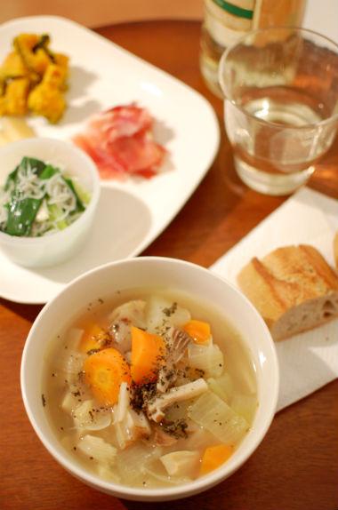 野菜だけのスープ献立