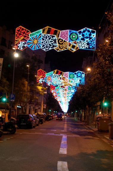 バルセロナ イルミネーション