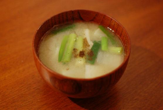 大根と分葱の味噌汁