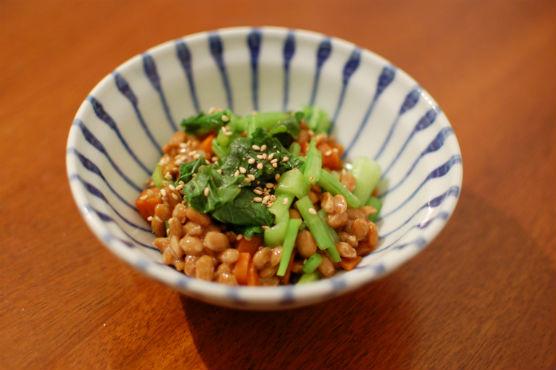 蕪の葉入り納豆
