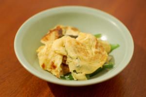 葱の卵炒め