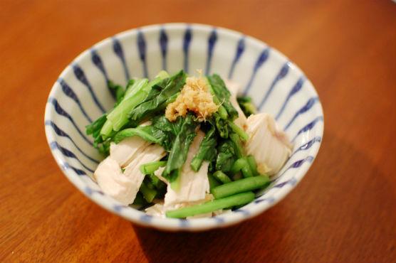 蒸し鶏の生姜ポン酢