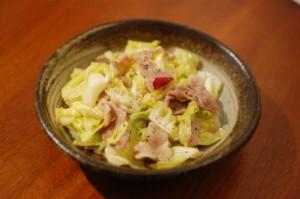 春キャベツの味噌炒め