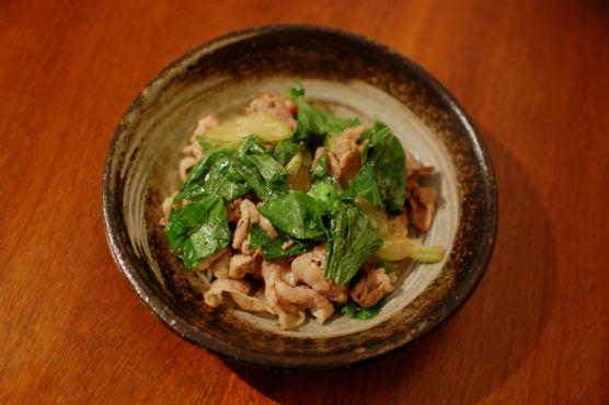セロリと豚肉の塩炒め