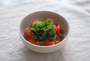 トマト納豆