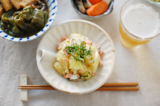 鮭と大葉の和風ポテトサラダ