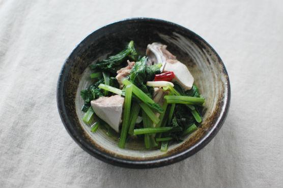 鰤と小松菜の香味酒蒸しレシピ