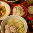 肉団子とキャベツの煮もの献立