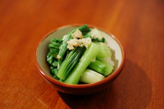 青梗菜の生姜和え