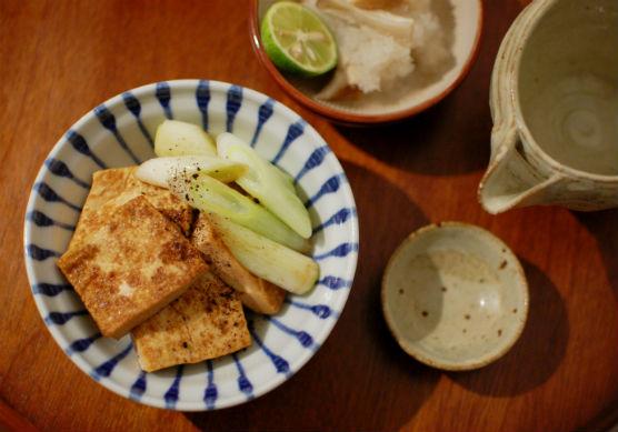 煎り焼き豆腐献立