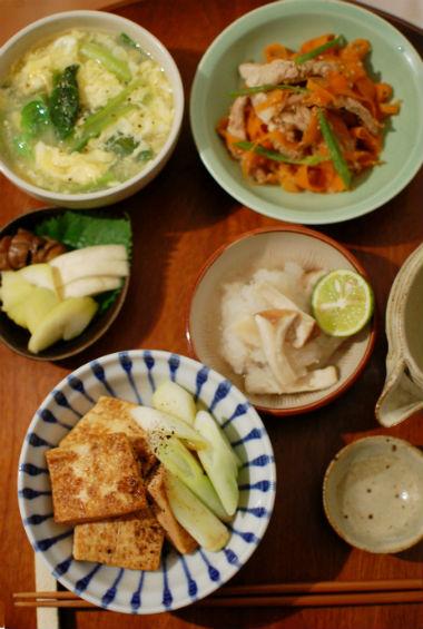 浅七 煎り焼き豆腐