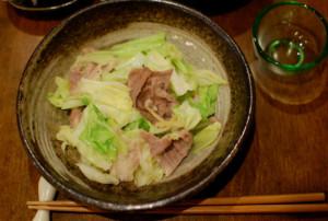 塩豚とキャベツのしょうが炒め