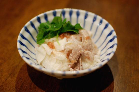 豚と長芋の梅和え