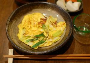白葱と卵の炒めもの