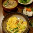 葱と卵の炒めもの献立