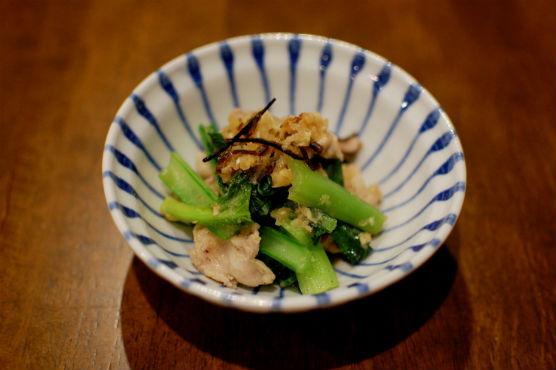 豚肉と小松菜のおろし煮