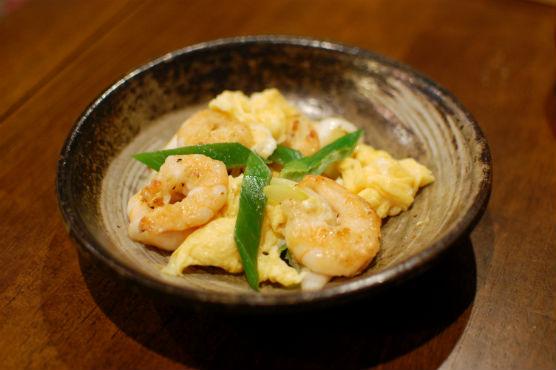海老と卵の炒めもの