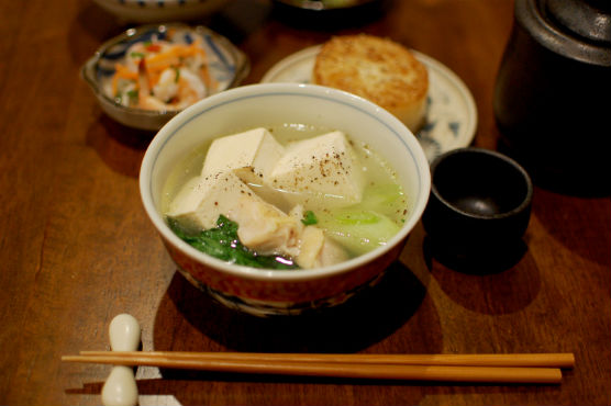 鶏豆腐 晩酌