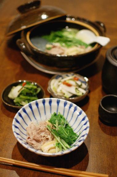 豚と水菜のはりはり鍋献立