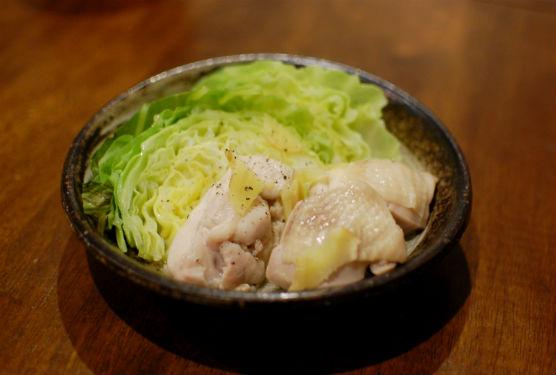 奈良漬 きのこの味噌汁 菜の花のからし和え 鶏もも肉とキャベツのしょうが蒸し