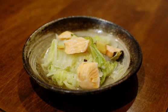 塩鮭と白菜の酒蒸し