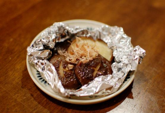 椎茸のホイル焼き