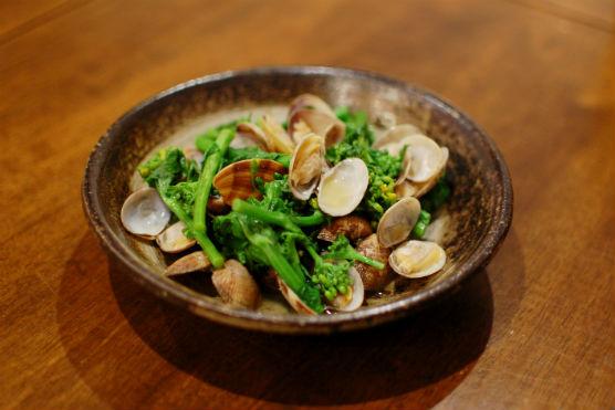 あさりと菜の花の酒蒸しレシピ