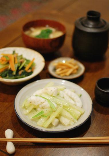 イカとセロリの塩炒めレシピ