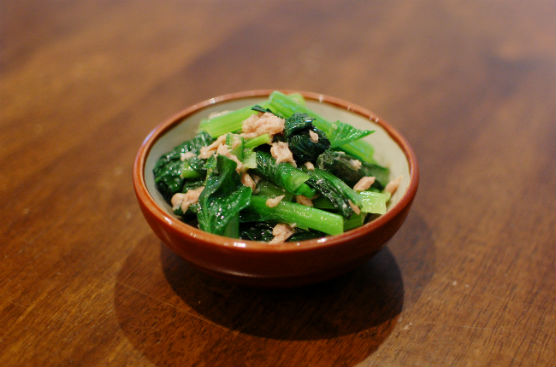 小松菜とツナの和えもの