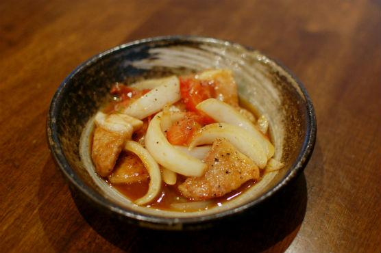 トマト黒酢酢豚